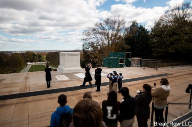 Boyscouts saluting the fallen