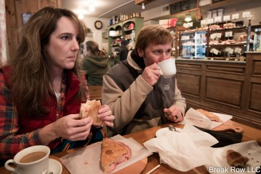 Mom and Dad enjoying breakfast