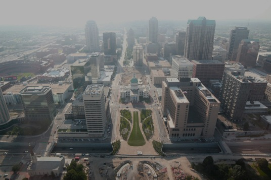 View from the Arch of St. Louis